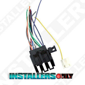 aftermarket car stereo radio wiring harness cadillac 1677 wire rh ebay com