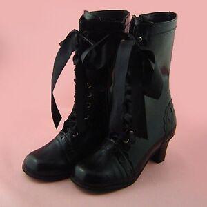 Details zu schwarz gothic gotik lolita stiefel boots Shoes Schuhe black vogue party fashion