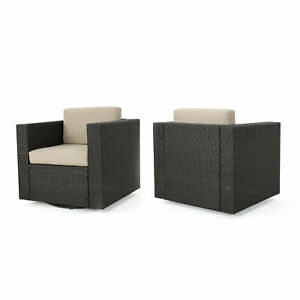 Prime Details About Venice Outdoor Wicker Swivel Club Chair With Water Resistant Cushions Cjindustries Chair Design For Home Cjindustriesco