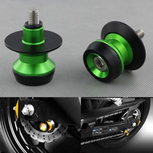 10mm Swingarm Spools Sliders For Kawasaki ZX-14 ZX14R ABS ZZR1400 2006-2014
