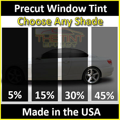 Fits: 2007-2018 Jeep Wrangler JK 4-Door Unlimited Hardtop Automotive Window Film Precut Window Tint Kit Includes: Front Windshield Visor precut in 45/%