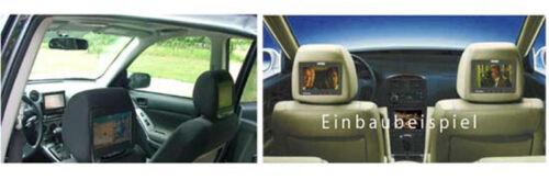 "17,8 cm de LCD TFT monitor auto 7/"" pulgadas apoyacabezas set display negro digital"