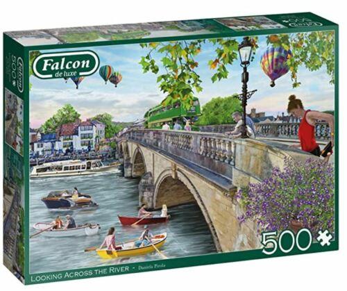 Falcon de luxe 500 piece jigsaw puzzle LOOKING ACROSS THE RIVER