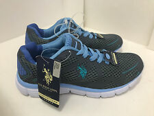NEW ARRIVAL! US POLO USPA WOMEN'S CHACOAL BLACK BLUE RUNNING TRAINING SHOES 7 37