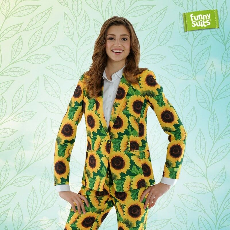 Tournesol Femmes Femmes Femmes Costume Fleurs Sunflower Vert 2 pièces Costume Deluxe UE Size 9f5272