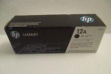 HP 12A Black Toner Cartridge 2K-Pages 3052 1018 M1319f 1020 M1120 Q2612A OEM NEW