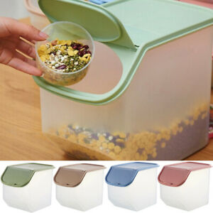 Am-AG-DV-Food-Storage-Container-Box-Bin-Flip-Cover-Rice-Cookies-with-Measurin