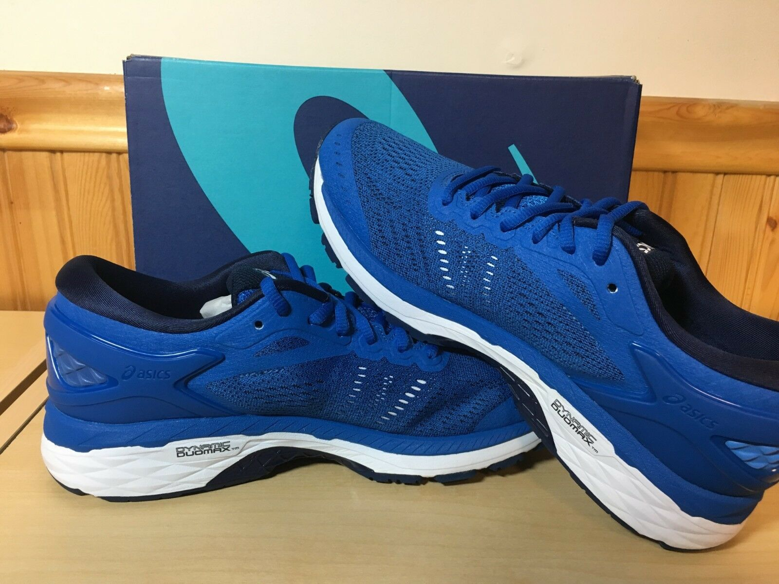 Men's Asics Gel Kayano 24 Victoria bluee Indigo Indigo Indigo bluee White Running shoes Size 6 02e11a