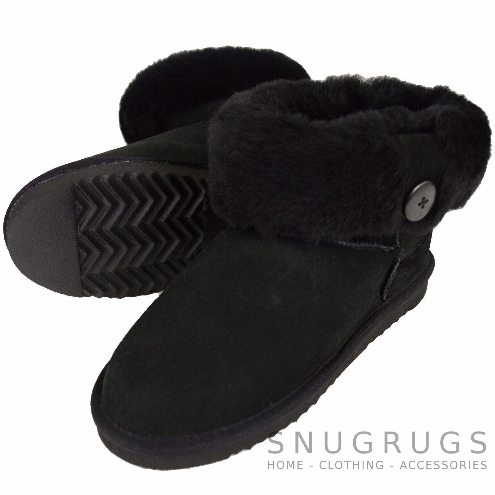 Damen / für Stiefel Damen, volle Schafspelz wadenlang Down Shorts Stiefel für KNOPF DESIGN a624bd
