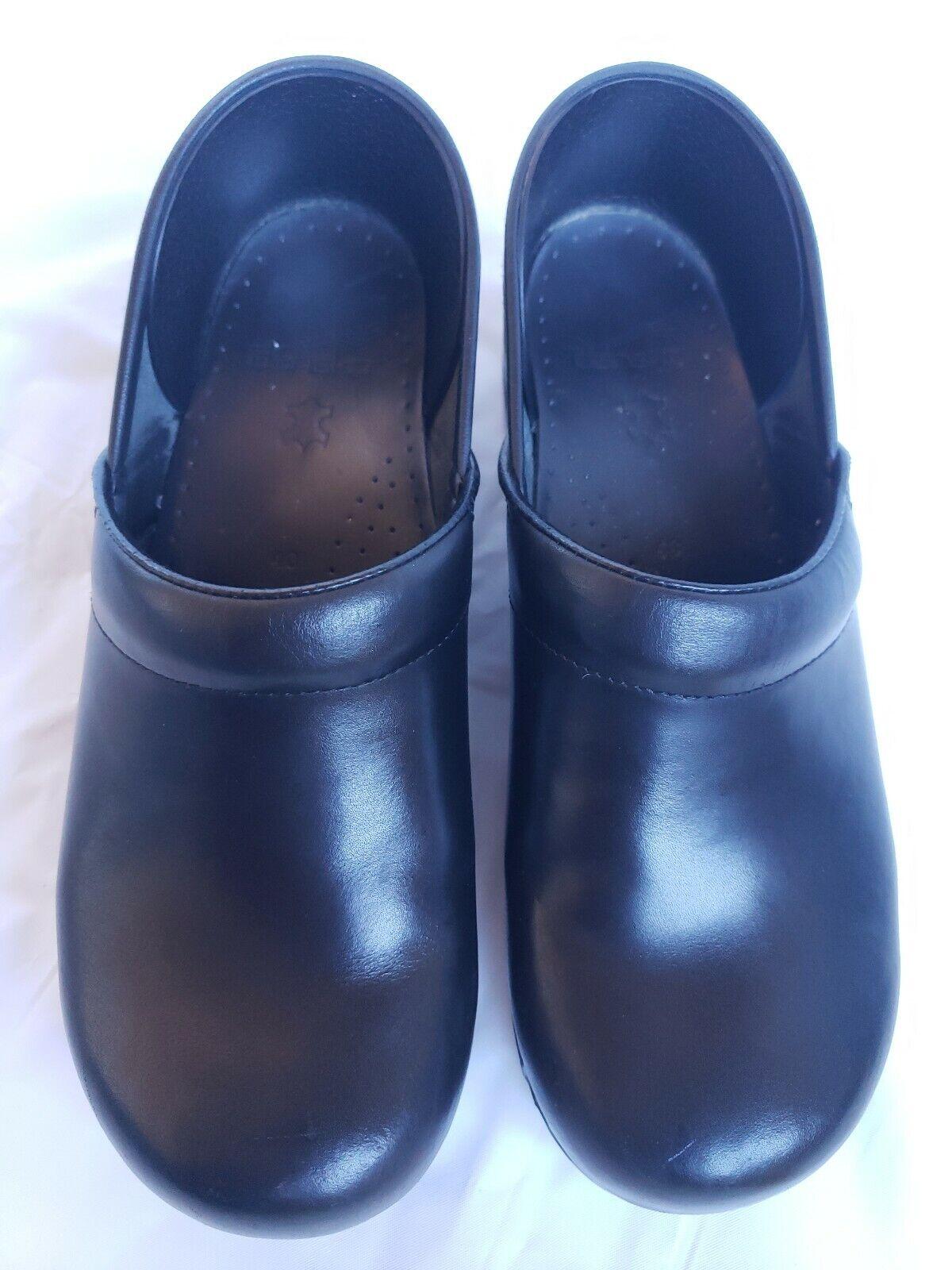DANSKO Donne Professional Nursing Clog Dimensione 40  US 9.5  -10 Scarpe in pelle nera  fabbrica diretta
