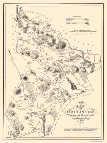 Holliston Massachusetts Pendleton 1831-23 x 30.70