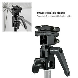 B-Type-Flash-Bracket-Umbrella-Holder-Swivel-Light-Stand-Adapter-Cold-shoe-Flash