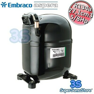 3S NUOVO MOTORE Compressore R134a 5//8 Hp LBP 27,1 cm3 Embraco Aspera NJ2152Z CSR
