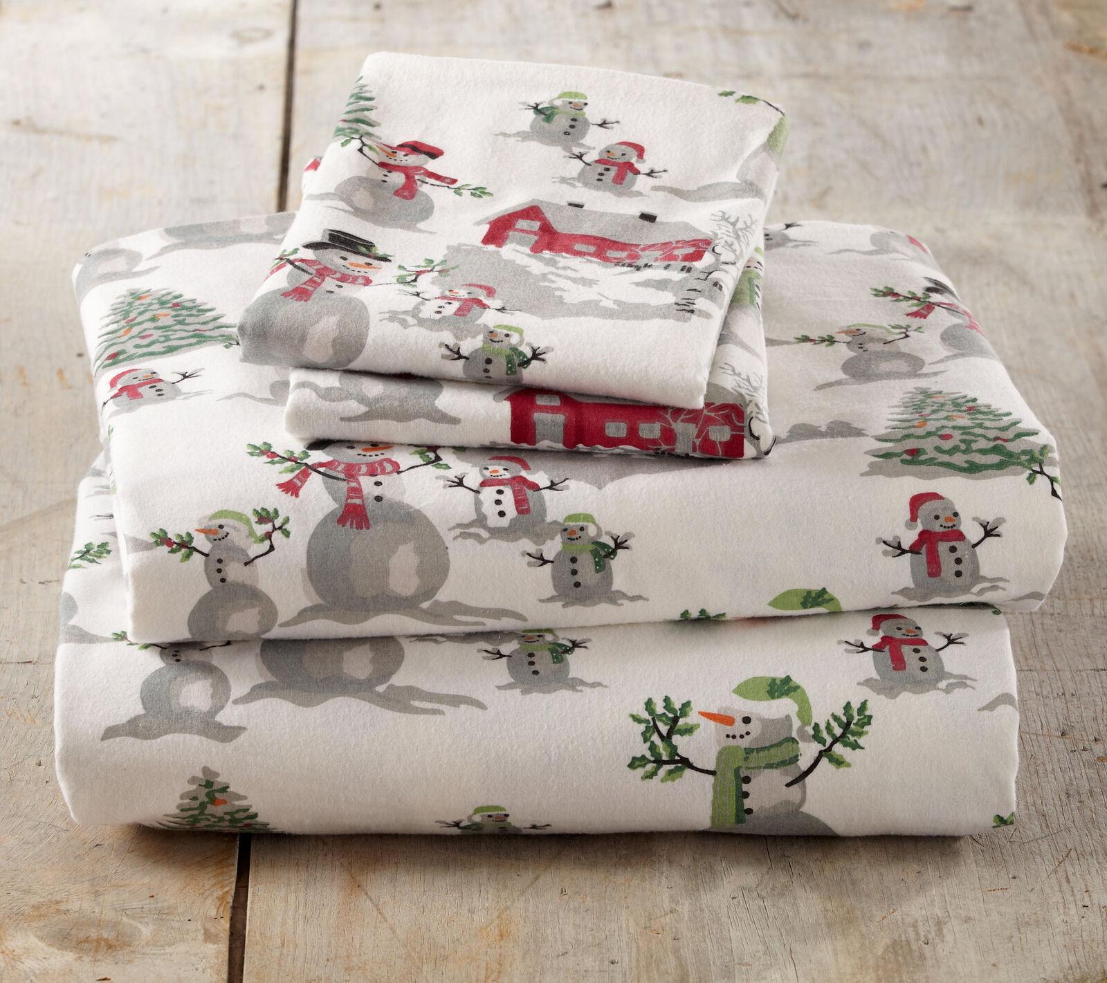 Loon Peak Colleton Winter Wonderland Super Soft Printed Flannel Cotton Sheet Set