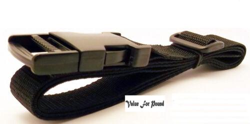 environ 2.54 cm Noir 25 mm Réglable Ceinture Sangle Libération Rapide Cobra à sangle et boucle 1 in
