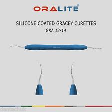 SILICONE Coated Gracey Curette 13/14 Dentale Strumento numero Scaler