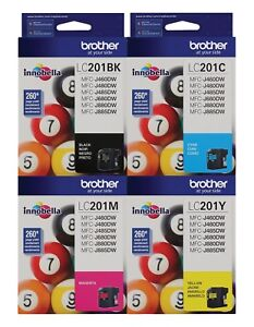 GENUINE-Brother-LC201-Ink-Cartridge-4-Pack-for-MFC-J480DW-MFC-J880DW-MFC-J885DW