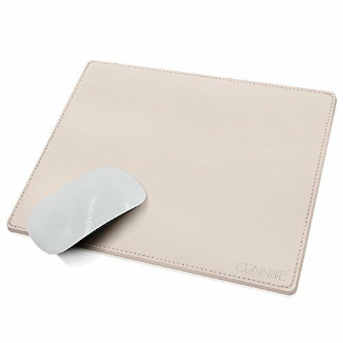 Gaming and Executive Mousepad CENNBIE Artificial Leather Mouse Pad White