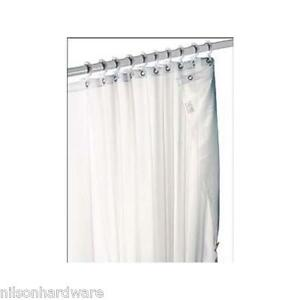 Commercial Fabric Shower Curtain Heavy Duty White 6pk Ebay