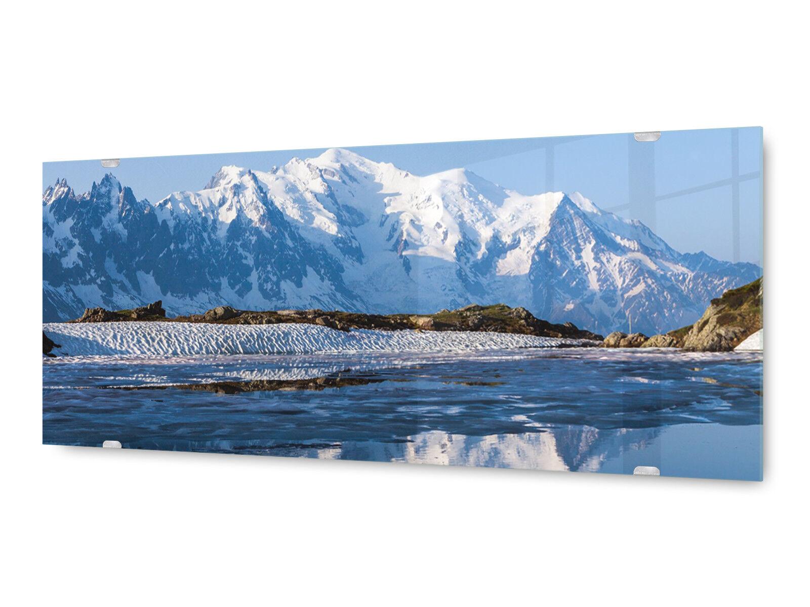 Image la fresque glx12554094049 montagne neige 125 x 50 cm