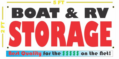 BOAT /& RV STORAGE All Weather Banner Sign 4 Self Store Facility