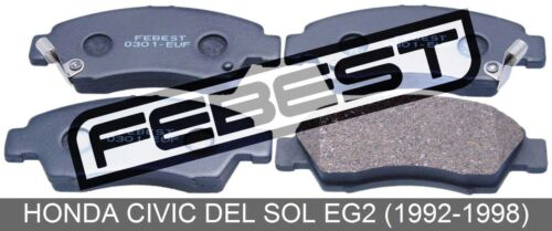 1992-1998 Disc Brake Pad Kit Front For Honda Civic Del Sol Eg2