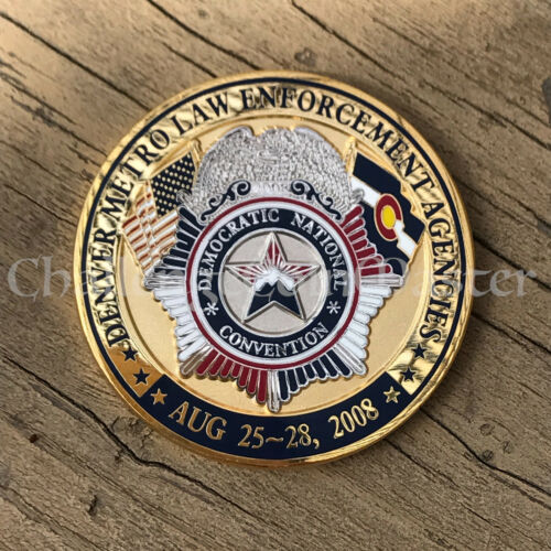 2008 Denver Police Democratic National Convention President Obama Challenge Coin