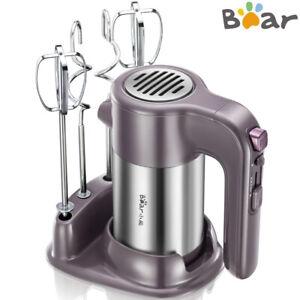 BEAR-Electric-Handheld-Mixer-5-Speed-Whisk-Food-Blender-Kitchen-Egg-Beater-US