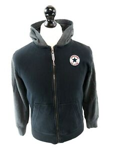 CONVERSE-Boys-Hoodie-Jacket-12-13-Years-L-Large-Grey-Black-Cotton-amp-Polyester
