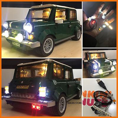 for Lego 10242 Mini Cooper MK VII USB Powered LED Light Kit White