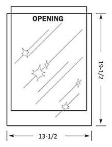 13-1/2 x 19-1/2 inch MYLAR Sleeve(s) 4mil no flap 80s size COMIC ART