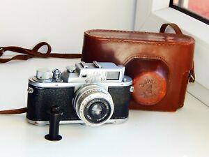 RARE-Zorki-3M-Rangefinder-Film-Camera-Soviet-copy-Leica-w-s-lens-Industar-50-EXC