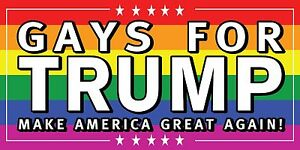 3/'x6/' LGBTQ for Donald Trump 2016 Vinyl Banner Sign presidential Gay Pride