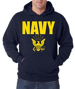 Image is loading NAVY-HOODIE-GOLD-Military-Hooded-Sweatshirt-Blend-Seal- 501af11e9d6
