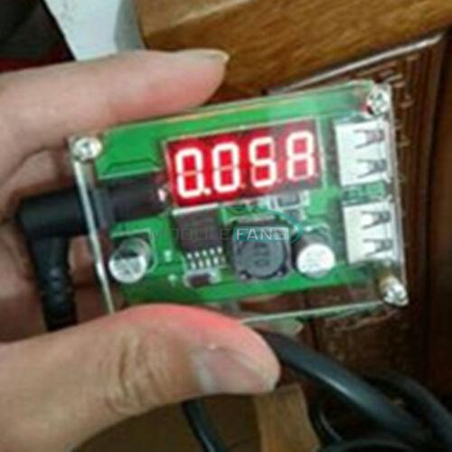 DC-DC 12V//24V//36V to 5V 3A Step Down Dual USB Buck Converter Voltmeter For Car