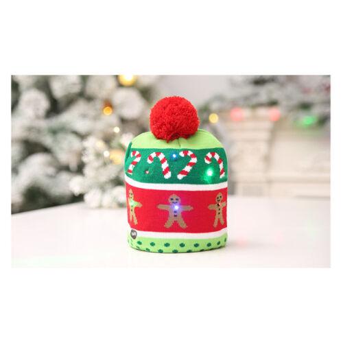 Lotsa Lites LED Flashing Holiday Xmas Knitted Hat Light up Blinking Beanie