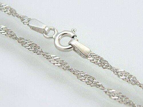 45 cm Singapurkette Silber 925 massiv Halskette rhodiniert funkelnd massiv