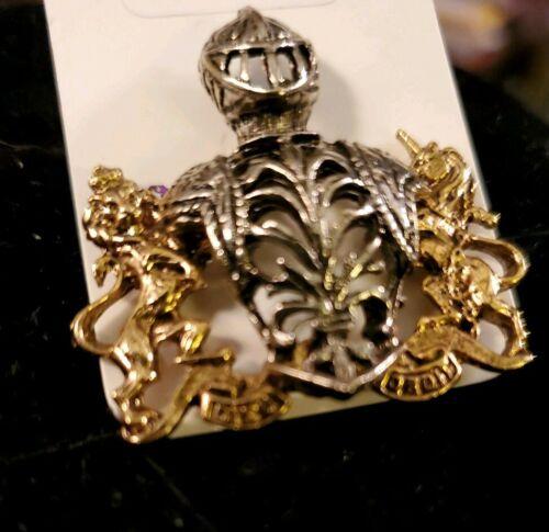 Knight Shield Pin Brooch
