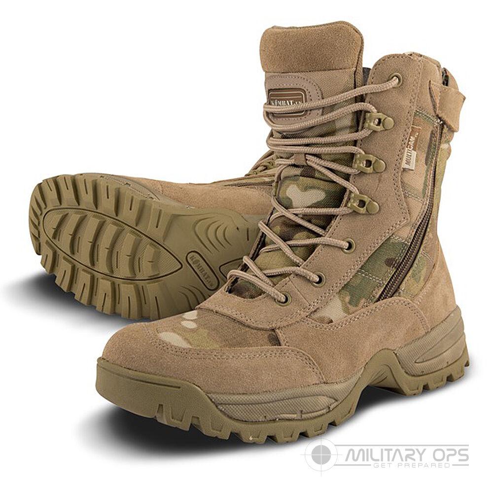 Multicam Mtp Spec Ops Recon Stiefel Reißverschluss Seite Leicht Militär Armee