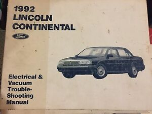 image is loading 1992-lincoln-continental-ford-wiring-diagram-evtm-shop-