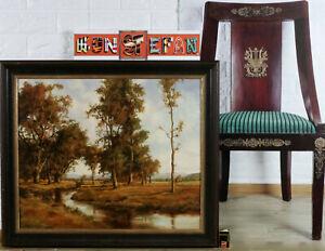 Fritz-GRAMM-1934-Stuttgart-Munich-Painting-Older-Landscape-River-Impressionist
