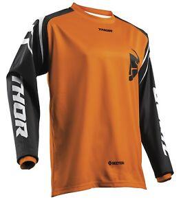 Thor-secteur-zones-JERSEY-MOTOCROSS-MX-ENDURO-tricot-maillot-chemise-orange