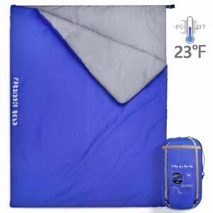 JBM-Double-Sleeping-Bag-Camping-Travel-Hiking-Envelope-Suit-Case-UK
