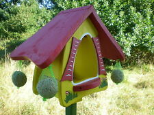 ORIGINAL die VOGELVILLA Futterhaus FUTTERHOBBIT Vogelhaus gelb stehend