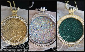1x-LARGE-COIN-MONEDA-ONLY-FOR-MI-MILANO-NECKLACE-PENDANT-CARRIER-GENUINE-CRYSTAL