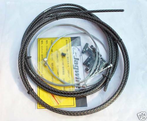 BIKE STANDARD JAGWIRE HOUSING CABLE COMPLETE KIT BLACK