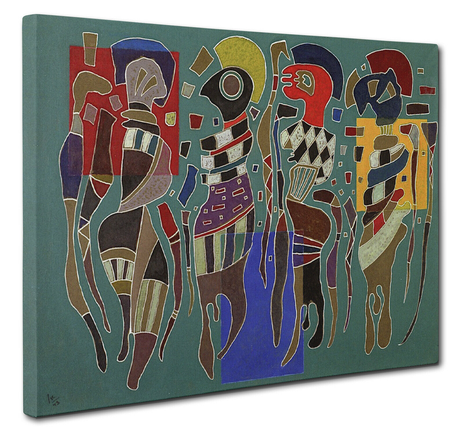 """Wassily Kandinsky Picture /""""In Blue/"""" 1925 Canvas Print Wall Art Multi Sizes"""