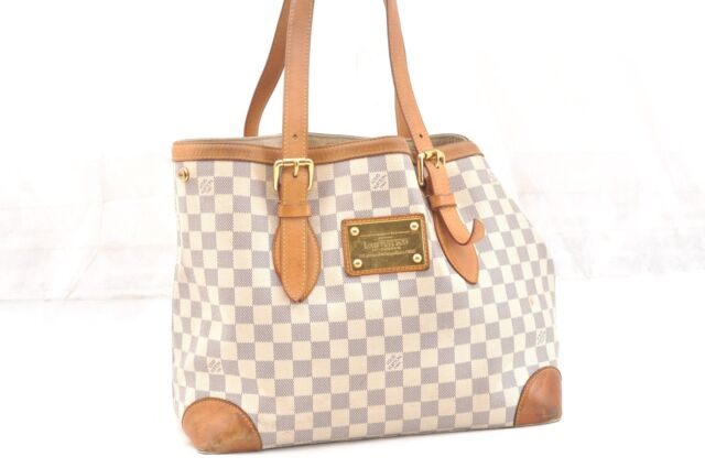 Auth Louis Vuitton Damier Azur Hampstead MM Shoulder Tote Bag N51206 LV  58882 706fce880