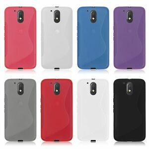 sports shoes f0ca2 f709b Details about Gel Rubber TPU Silicone Case S-line Back Cover for Motorola  Moto G4 / G4 Plus