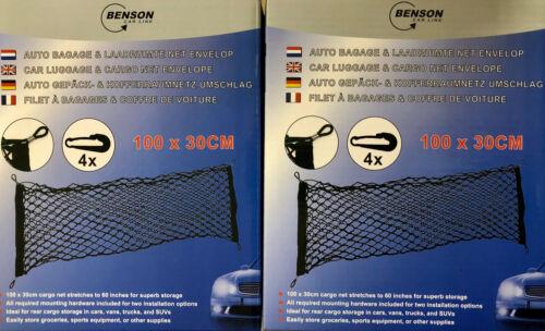 EF 2x Auto Gepäck /& Kofferraumschutz 100 X 30CM Trennnetz Kofferraumnetz Netz